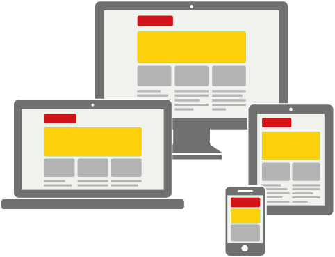 Responsive Design Examples on Multiple sized media